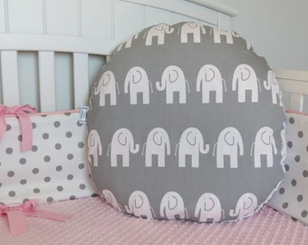 Elephant and Minky Boppy Lounger Cover - Boppy Lounger Pillow Cover, Minky Nursing Pillow