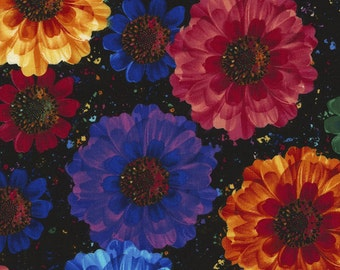 1/2 Yard Timeless Treasure Radiance Allover Flowers C5131