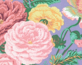 1/2 Yard Summer Bouquet in grey by Philip Jacobs fabric PJ086