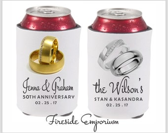 Personalized Wedding Can Cooler, Personalized Drink Holder, Anniversary Party Can Holder, Engagement Party Can Holder, Rehearsal Dinner