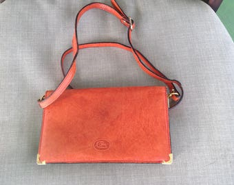 Vintage Cristian burnt orange wallet cross body purse