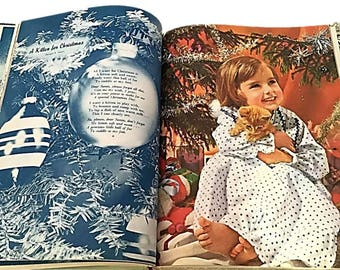 """Vintage IDEALS PUBLISHING Rare Illustrated Christmas Poety Book    1970 """"Christmas is for Childern"""" CHRISTMAS Storybook  """