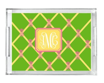 Monogrammed Lucite Tray Personalized Acrylic Tray Home Decor Serving Tray Initial Tray Personalized Tray Acrylic Tray Insert