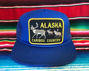 VTG Alaska Caribou Country Royal Blue Mesh Trucker Snapback