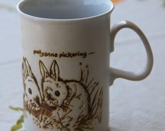 Dunoon Nature Mug. Pottery Dunoon Ceramics Coffee Mug Made in Scotland Designed by Pollyanna Pickering/ Rabbits
