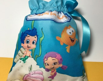 Bubble guppies favor bags, Bubble guppies party , Set of 10. READY TO SHIP