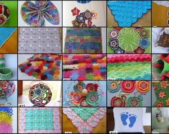 Crochet Patterns - Pick Any 3 Crochet Patterns Bundle from ASmartPattern,baby blanket,monkey,star balls,animals,