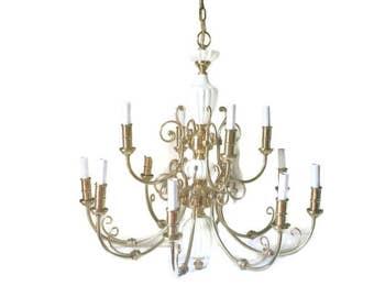 Vintage hollywood regency chandelier – Etsy:Chandelier Hollywood Regency Chandelier, Ceramic brass chandelier, fancy 12  light chandelier,Lighting
