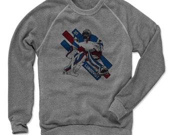 Henrik Lundqvist Stripes B New York R Officially Licensed NHLPA Crew Sweatshirt S-2XL