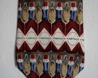 Stunning abstractl Tobasco men's silk neck tie