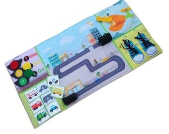 Play Mat, Busy mat, Felt Play Mat, quiet book Activity play or Play Mat, Panel Mat, Toy Car mat, toy car play mat, Activity play, Gift boy