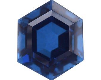 Ceylon Blue Triplet Quartz Loose Gemstone Fancy Cut 1A Quality 9mm TGW 3.35 cts.