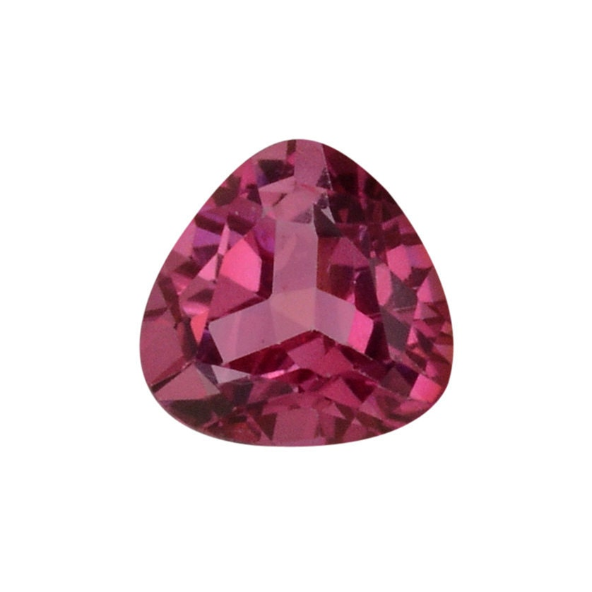 mystic pink topaz gemstone trillion cut 1a quality