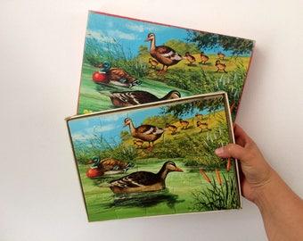 Vintage puzzle ducks