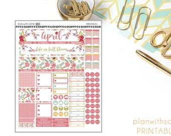 April - Printable Monthly View Set for Planners