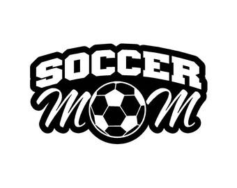 Soccer Mom Car Decal w/Soccer Ball