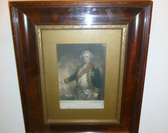 Antique polychrome print Adam First VISCOUNT DUNCAN by W.T. MOTE circa 1860