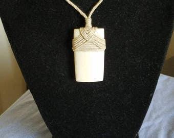 Carved Bone Toki-bone pendant-strength-Maori-South Pacific-bone jewelry