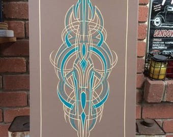 Pinstriped Canvas Panel
