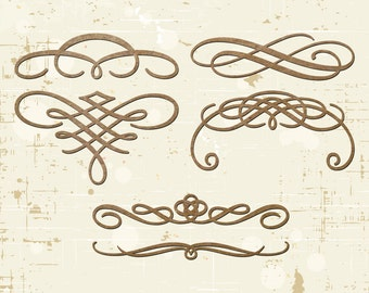 Ornamental Swirl Laser Cut Chipboard Scrapbooking Embellishments
