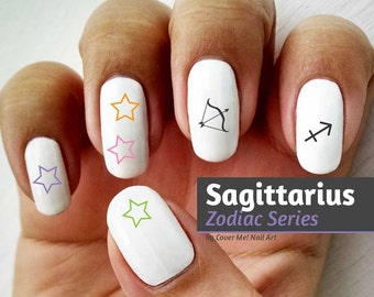 Sagittarius Zodiac - Water Slide Nail Decals
