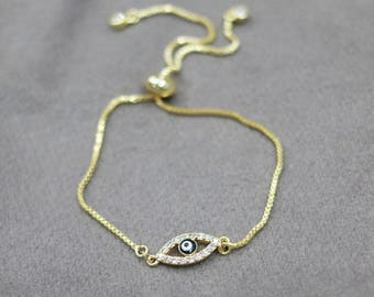 protection bracelet,Rhinestone Turkish Evil Eye Bracelet,women's bracelet,dainty jewelry,protection charm bracelet,fashion stacking bracelet