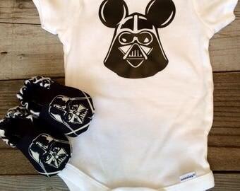 Darth vader baby onesie, Star Wars baby onesie, Star Wars baby outfit
