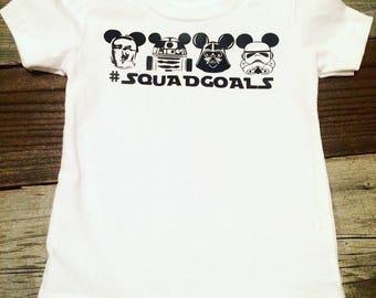 Star Wars squad goals shirt, Star Wars baby shirt, Star Wars toddler shirt, Star Wars onesie, Star Wars baby outfit, Star Wars baby gift