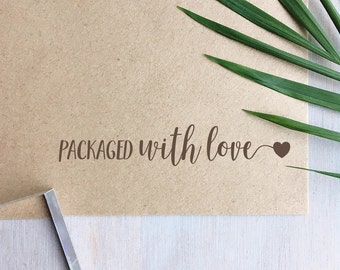 Packaged with Love Stamp | Packaging Stamp - Handmade Stamp - Special Delivery - Wedding Stationery