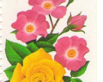 10 Unused 1994 Summer Garden Flowers - Rose - Vintage Postage Stamps Numbers 2833