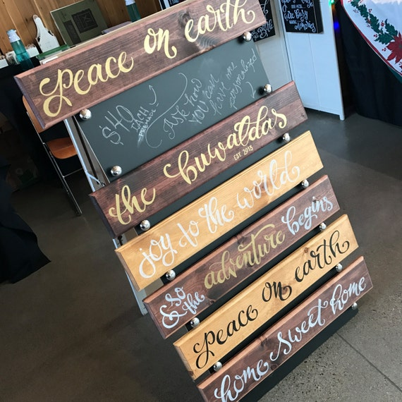 Greeting Board, Rustic Welcome Board, Holiday Decor, Holiday Wall Art, Established Board, Wedding Gift, Gifts for Couples, Christmas Gifts