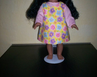 "4 piece Jumper, Skirt, Top and pants for 18"" doll"