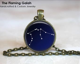 AQUARIUS CONSTELLATION Pendant • February Star Sign • Aquarius Star Sign •  Gift Under 20 • Made in Australia (P0966)