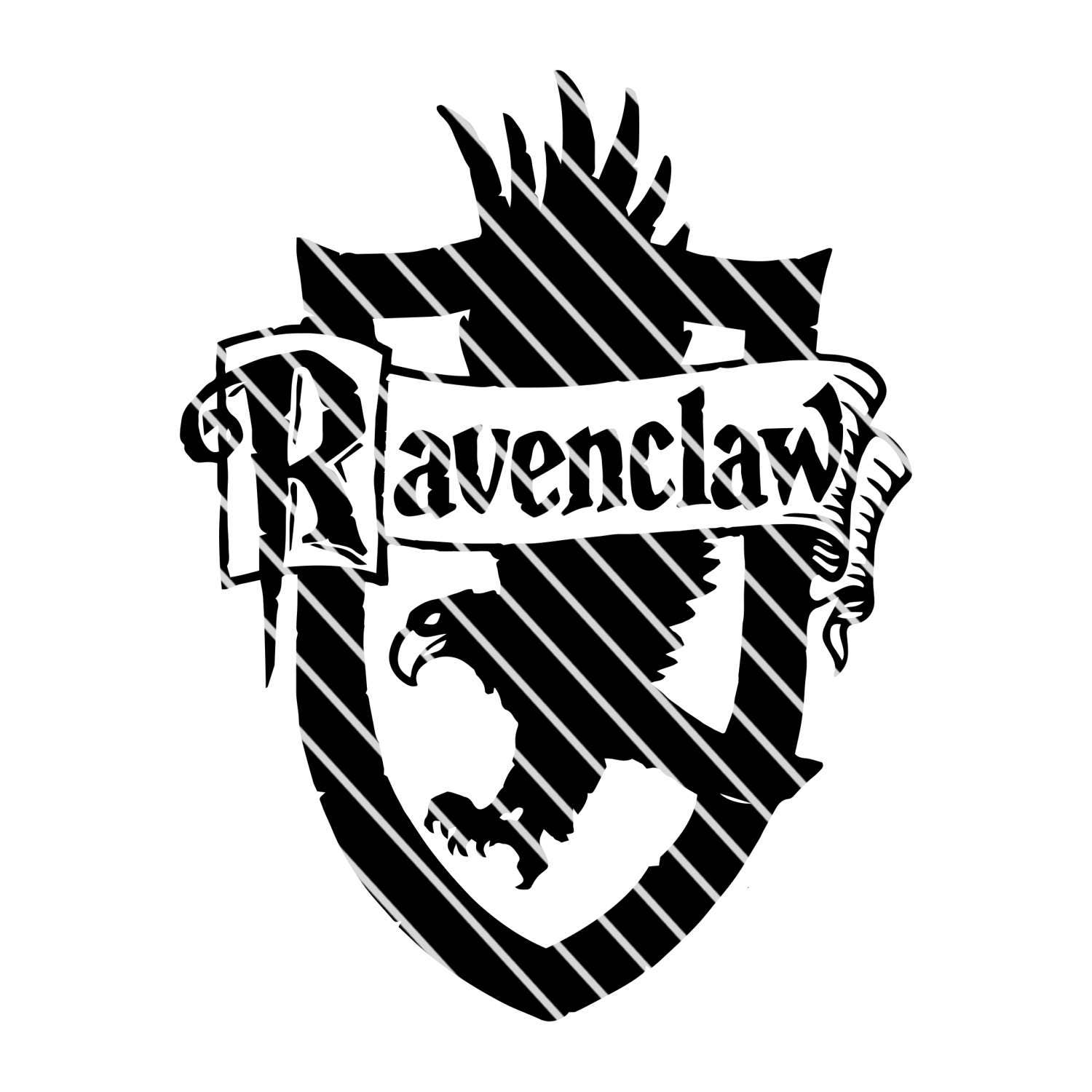 Harry Potter Ravenclaw Crest Simple Svg File From