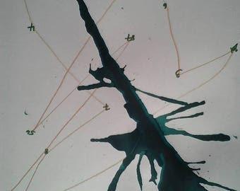 Abstrakt Ink Art