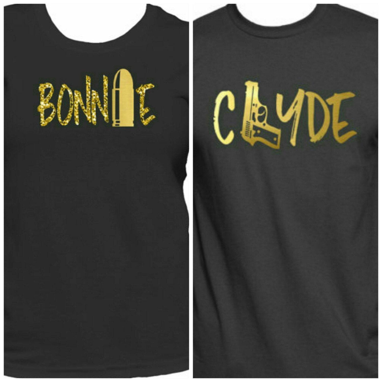 bonnie clyde t shirts couple 39 s shirt power couple. Black Bedroom Furniture Sets. Home Design Ideas