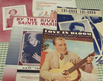 Lot of Vintage Sheet Music Bing Crosby, Kate Smith, Showboat, Perry Como, Dinah Shore