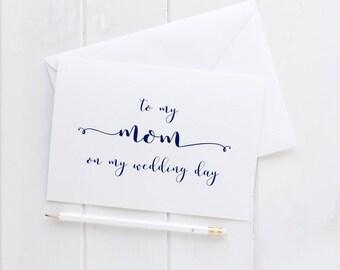 Wedding Card For My Mom. Mom Wedding Card. Mom Card. To My Mom Card. To My Mom On My Wedding Day Card. Mom Of The Bride. Mom Of The Groom.