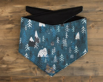 Teal Mountain Dog Bandana, Blue Dog Bandana, Mountain Dog Bandana, Dog Bandana, Mountain, Pet Accessories, Dog Scarf