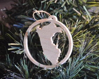 Peru Wooden Christmas Tree Ornament
