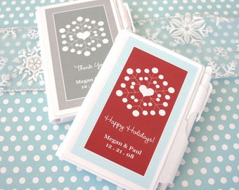 "Personalized ""Snowy Notes"" Notebook Favors"