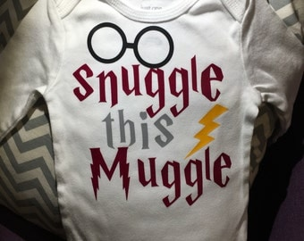 Snuggle this Muggle; one piece baby outfit
