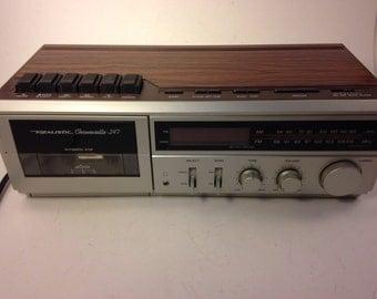 Vintage 1987 Realistic Chronosette-247 AM/FM Alarm Clock Radio with Cassette Recorder, Radio Shack Model 12-1554