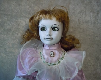 Creepy Doll #72 Dark Art Horror Collectible, doll stand not included