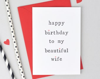 Handsome Husband Card, Gorgeous Wife Card, Beautiful Wife Card, Husband Birthday Card, Wife Birthday Card, Card for Wife, Card for Husband