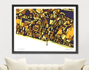 Brighton Art Map - Limited Edition Contemporary Giclée Print