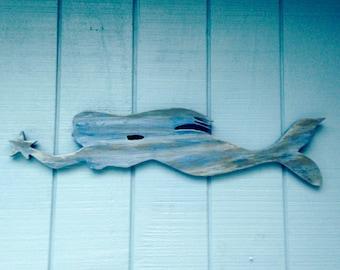 Mermaid/Mermaid,Wall Decor, 33 inchs long, Beach Decor, Hanging Beach Decor/Mermaid Wall Hanging/Hanging Mermaid/Nautical/Beach House