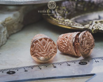 Songket Subeng Rose Gold Plated Earrings / 925 Sterling SIlver / Rose Gold Plated / Fine Quality