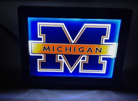 115 University Of Michigan Football Framed Night Light Lamp