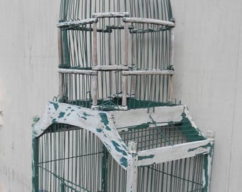 Large Charming Chippy Cottage Chic Decorative Birdcage!